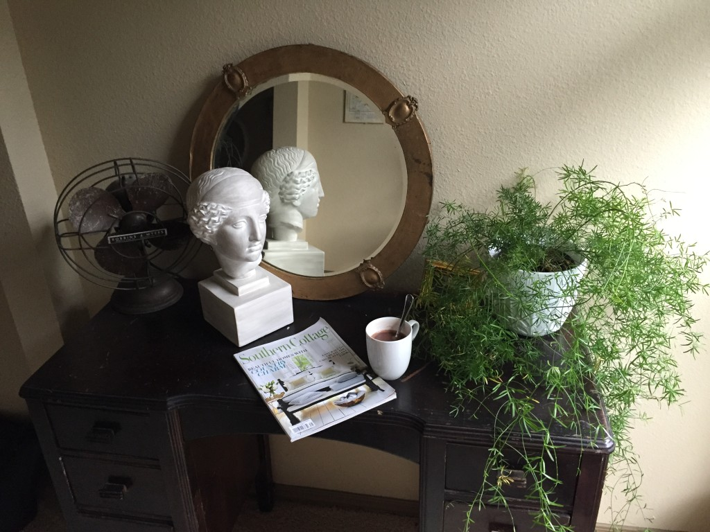Office Restyle with Antique Mirror